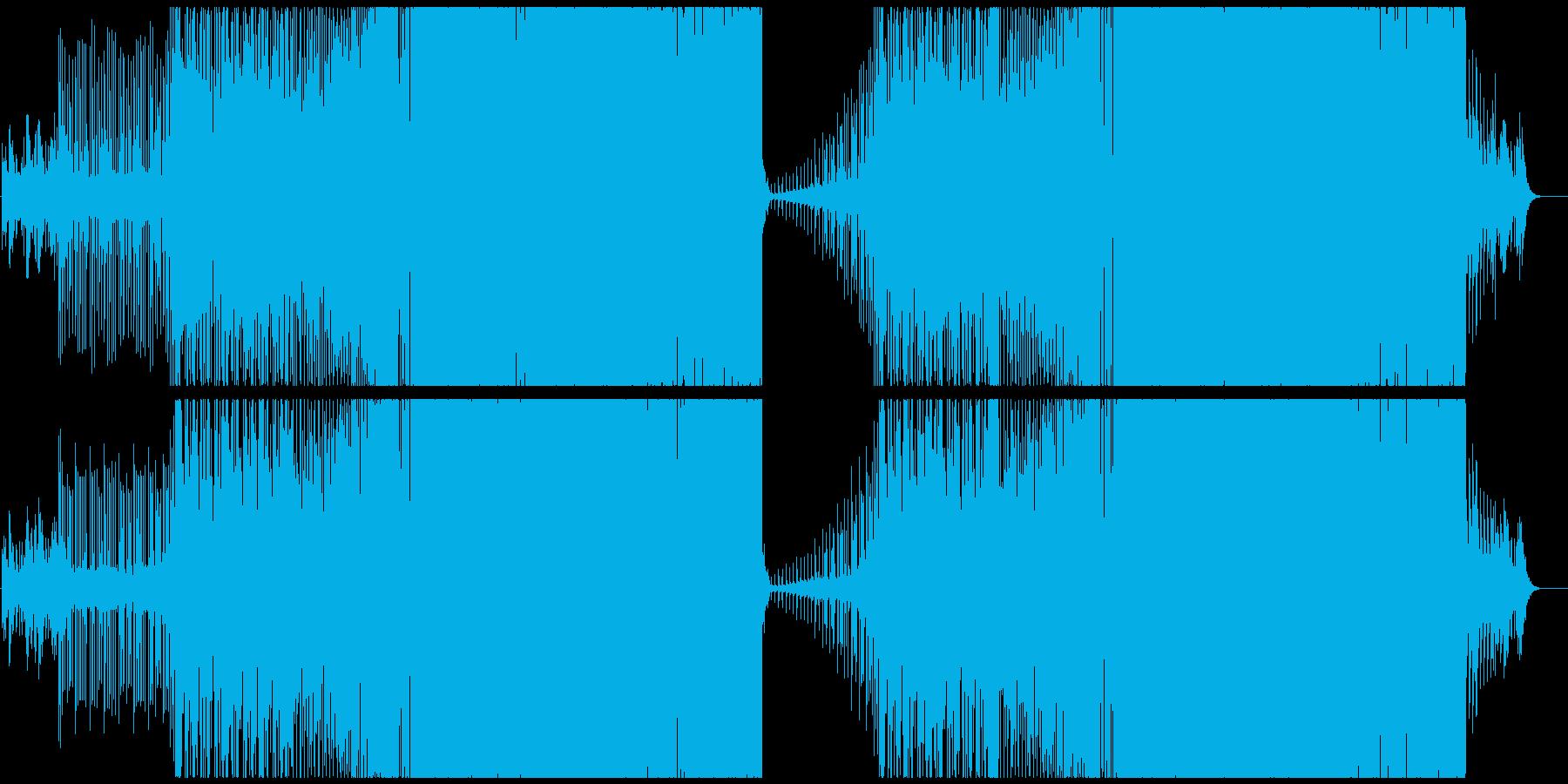 パワフルでアップテンポなEDMの再生済みの波形