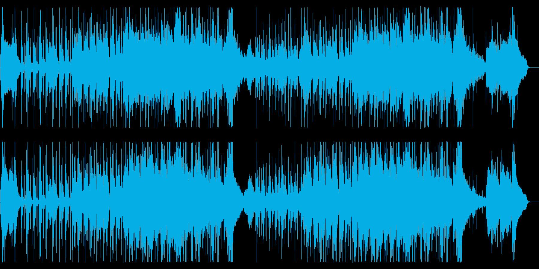 和楽器によるオリエンタルな楽曲の再生済みの波形