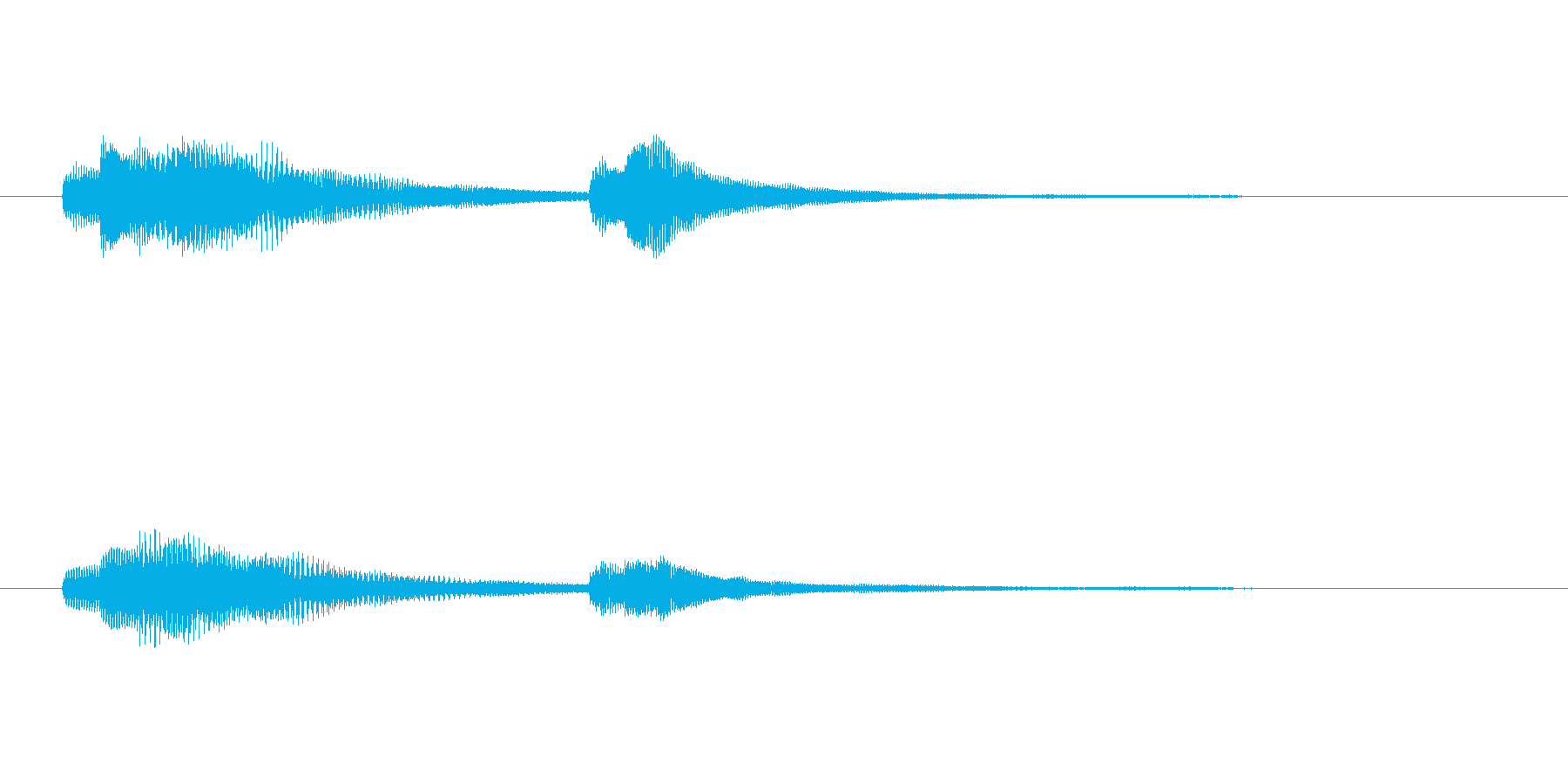 サウンドロゴ-4の再生済みの波形