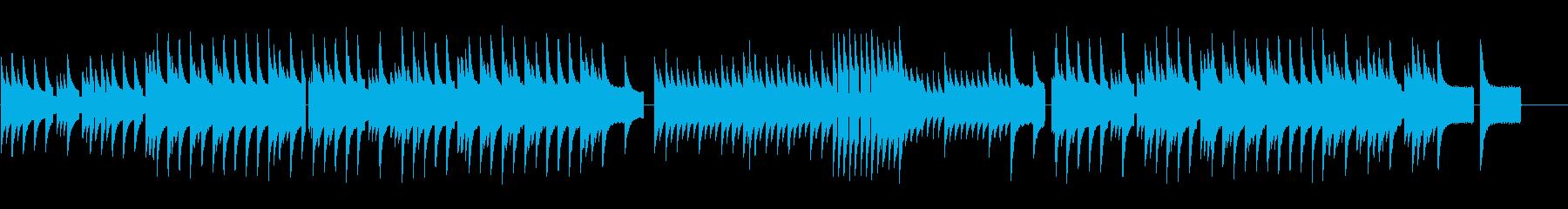 レトロゲームのRPGの様なチップチューンの再生済みの波形
