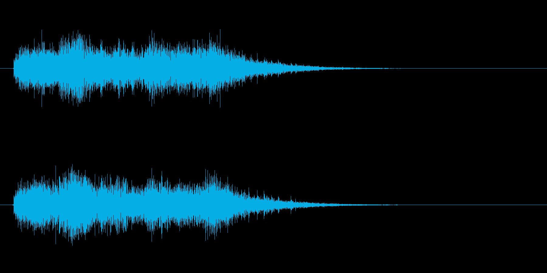 恐ろしい巨大クリーチャー、モンスター咆哮の再生済みの波形