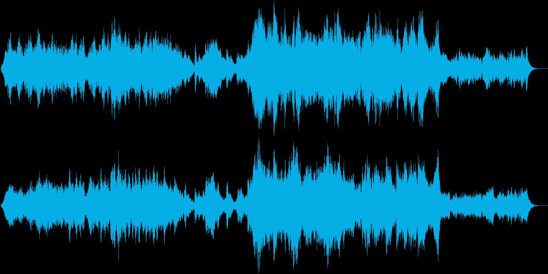 ドラマティックな映像系オーケストラ曲の再生済みの波形