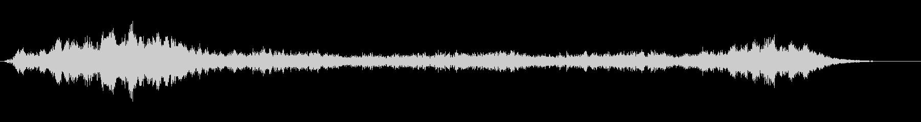 シリアス音3の未再生の波形
