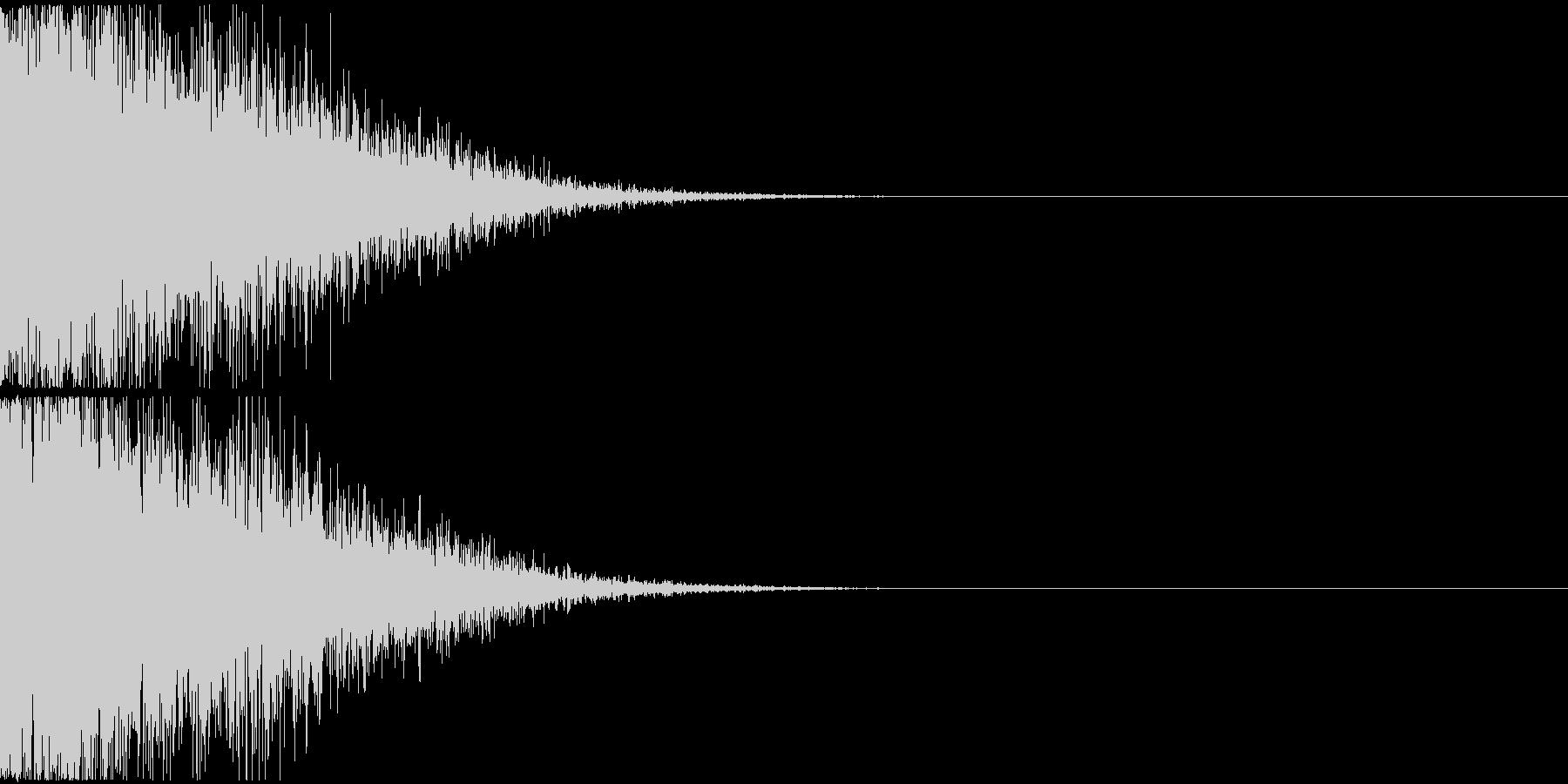 大規模な爆発音の未再生の波形