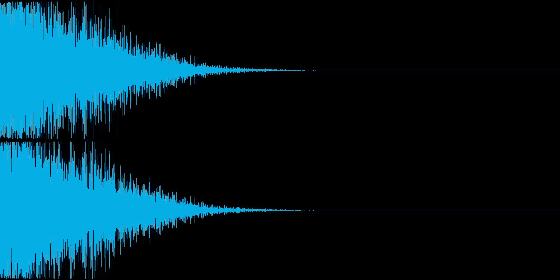 大規模な爆発音の再生済みの波形