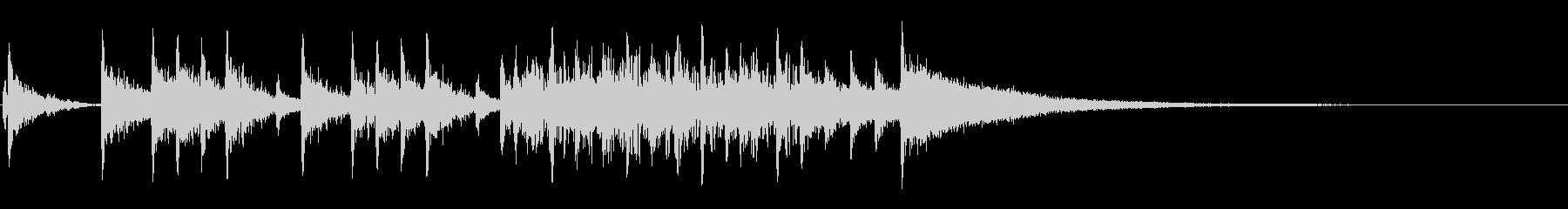 ハードロックのドラムソロジングルの未再生の波形