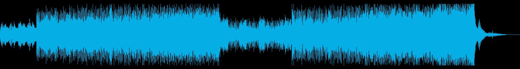 アップテンポの力強いビートの再生済みの波形