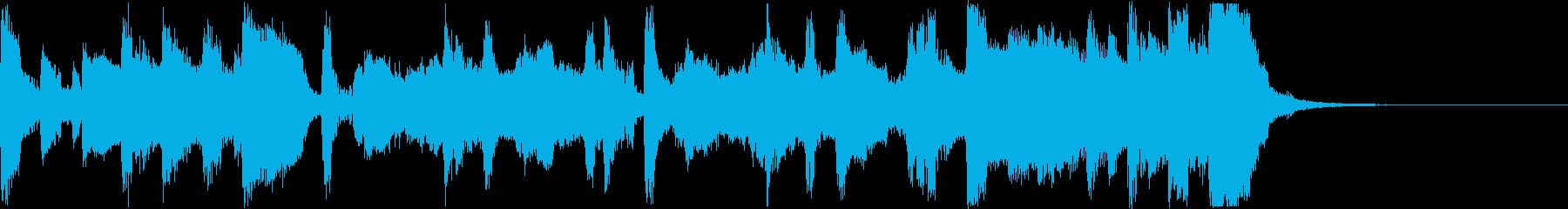 勇ましいトランペット・ファンファーレの再生済みの波形