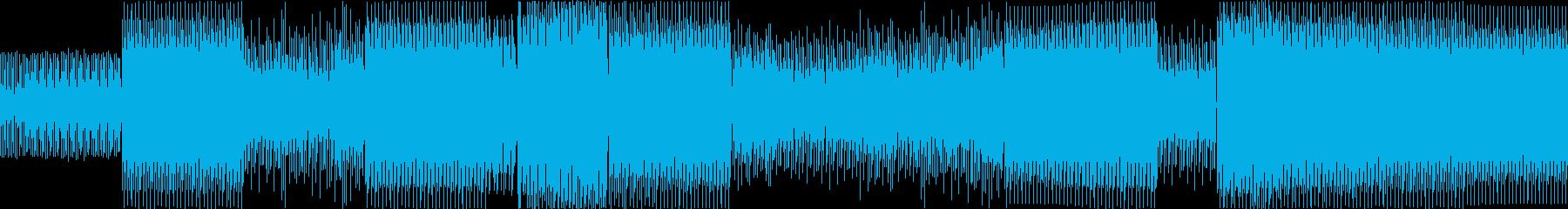 テックハウス。ラップの再生済みの波形