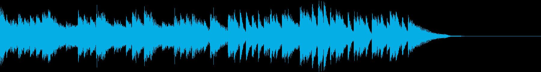 雄大な景色を描いた力強いピアノジングルの再生済みの波形