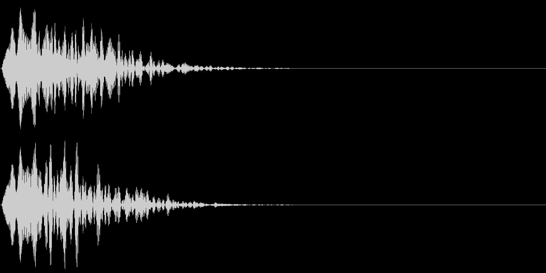 ヒュルルル(キャンセル音)の未再生の波形