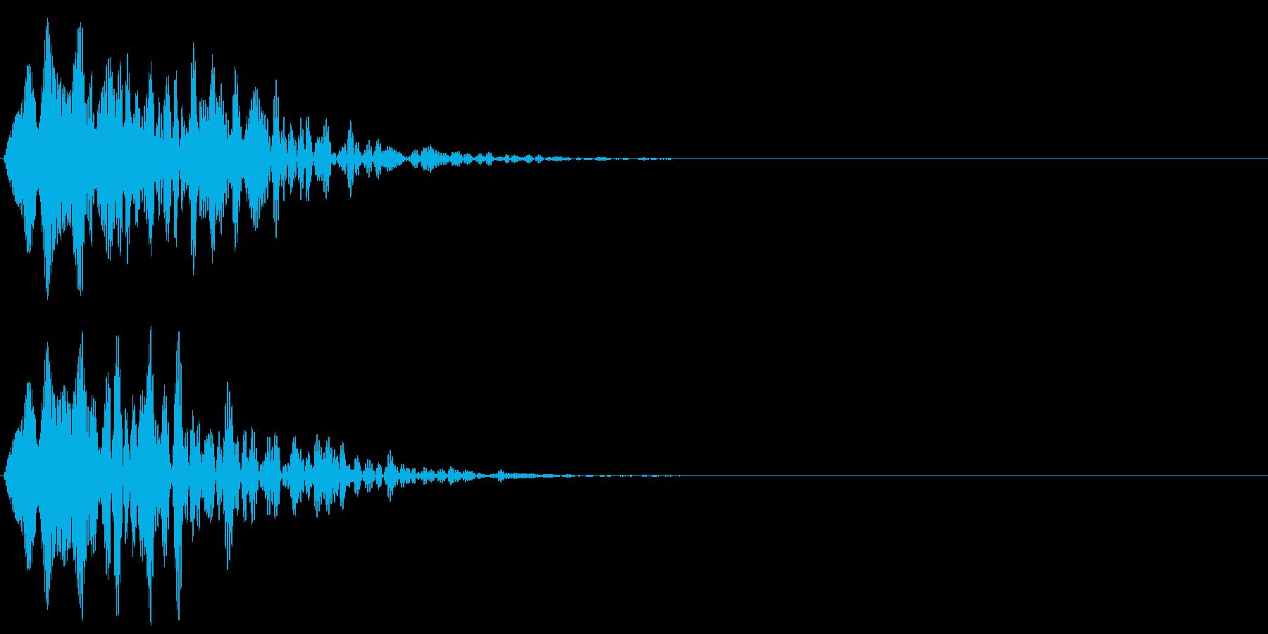 ヒュルルル(キャンセル音)の再生済みの波形