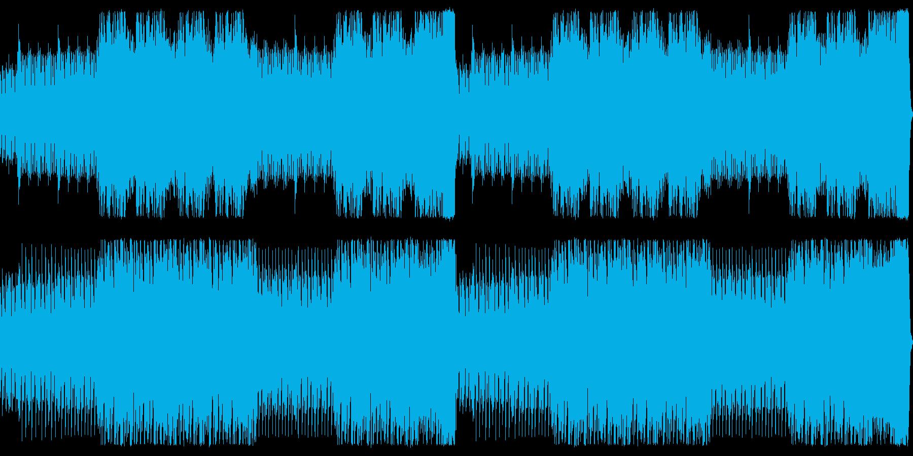 オーケストラによる戦闘用BGMの再生済みの波形
