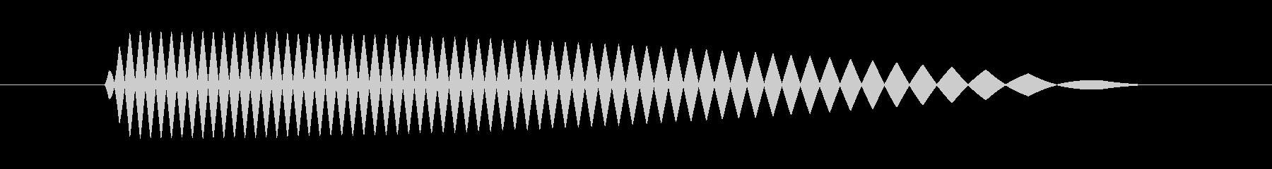 間違った答えのブザーが落ちるの未再生の波形