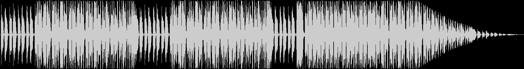 ぽかぽかとした和チックなBGMの未再生の波形