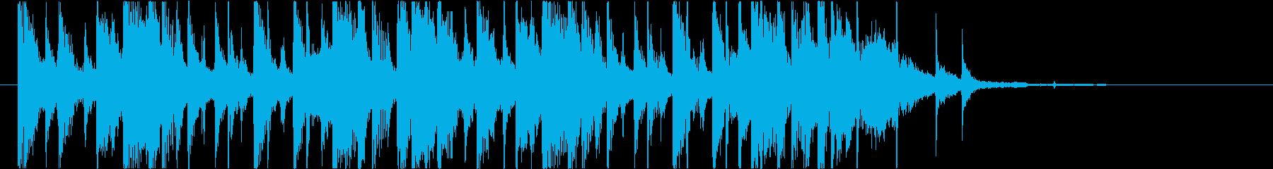 【南国効果音】熱気の風の再生済みの波形