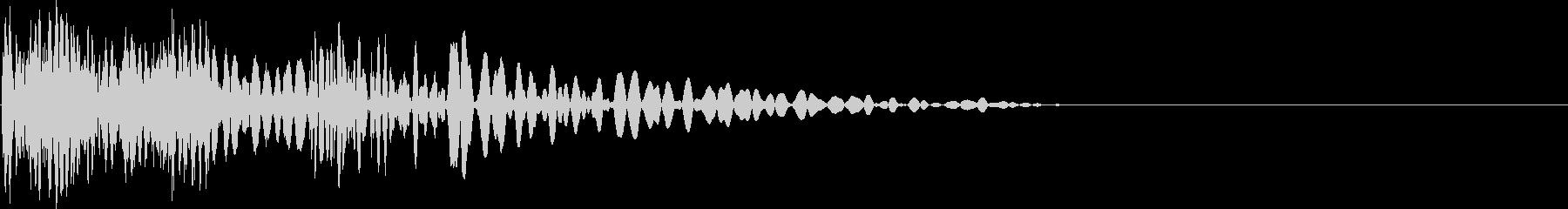 ピチドゥン(打撃・攻撃音)の未再生の波形