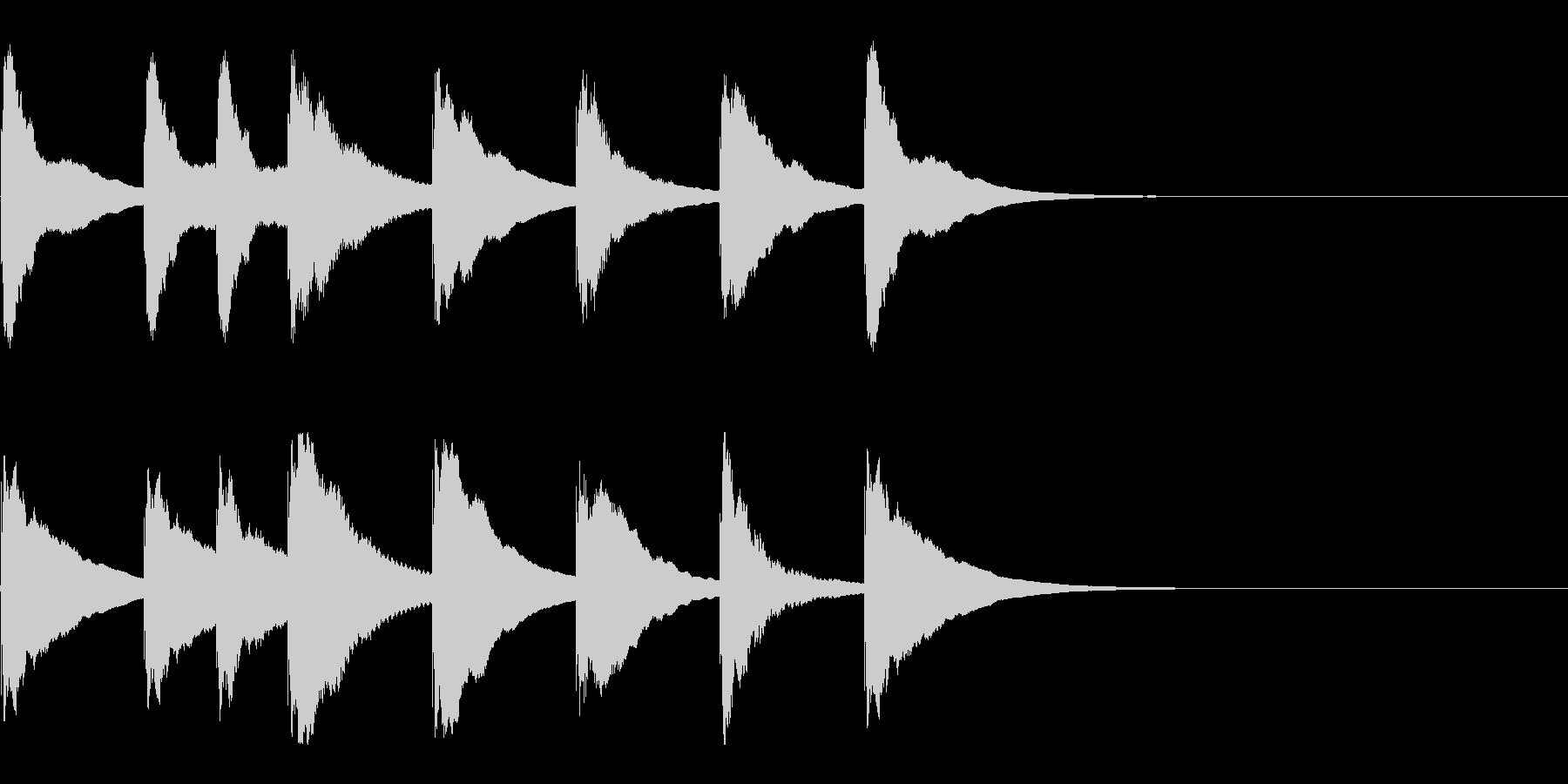 アラビアン?な木琴の3秒ジングルの未再生の波形