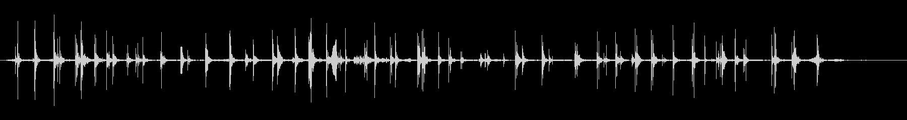 リノリウムの床に走り回る男と女の未再生の波形