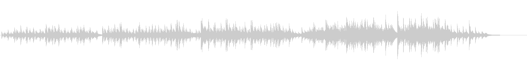 生ピアノソロ・紅葉の未再生の波形