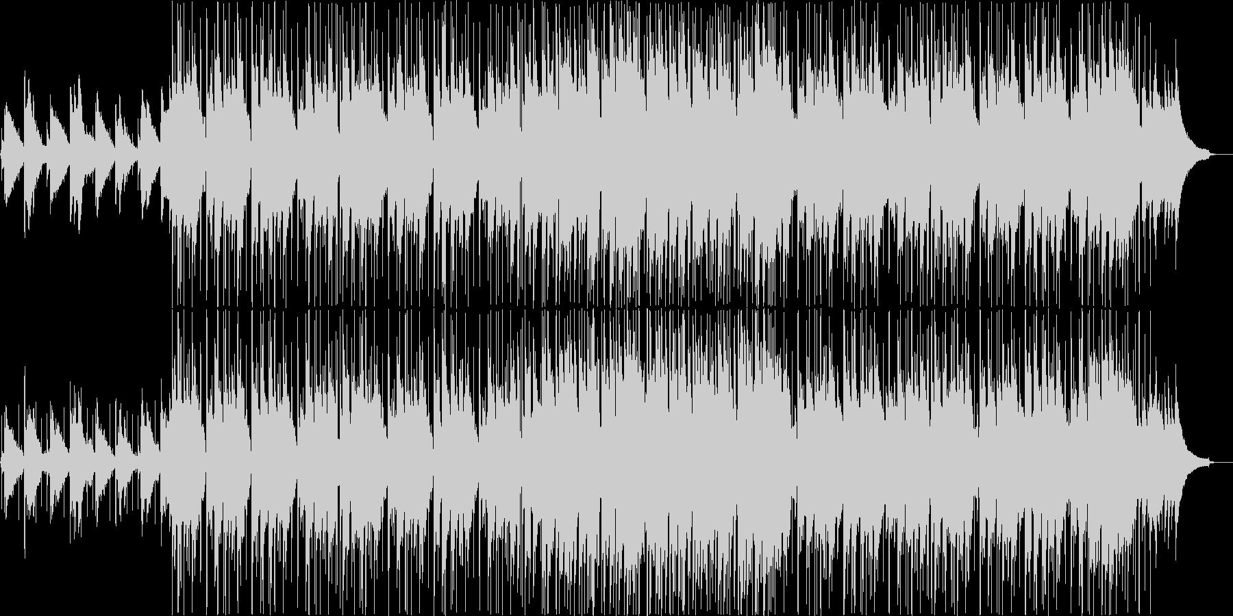 日常を意識したアコースティックBGMの未再生の波形
