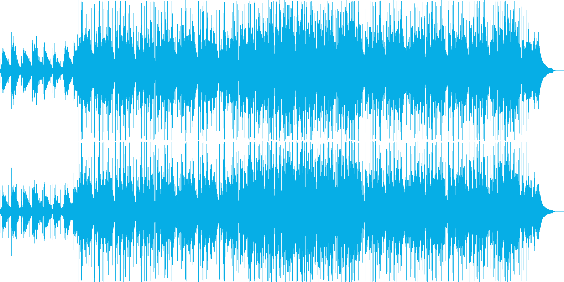 日常を意識したアコースティックBGMの再生済みの波形