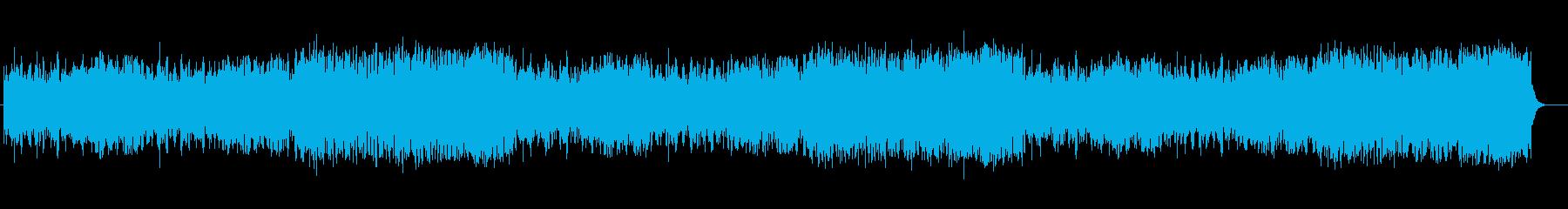 アップテンポのヒーリングミュージックの再生済みの波形