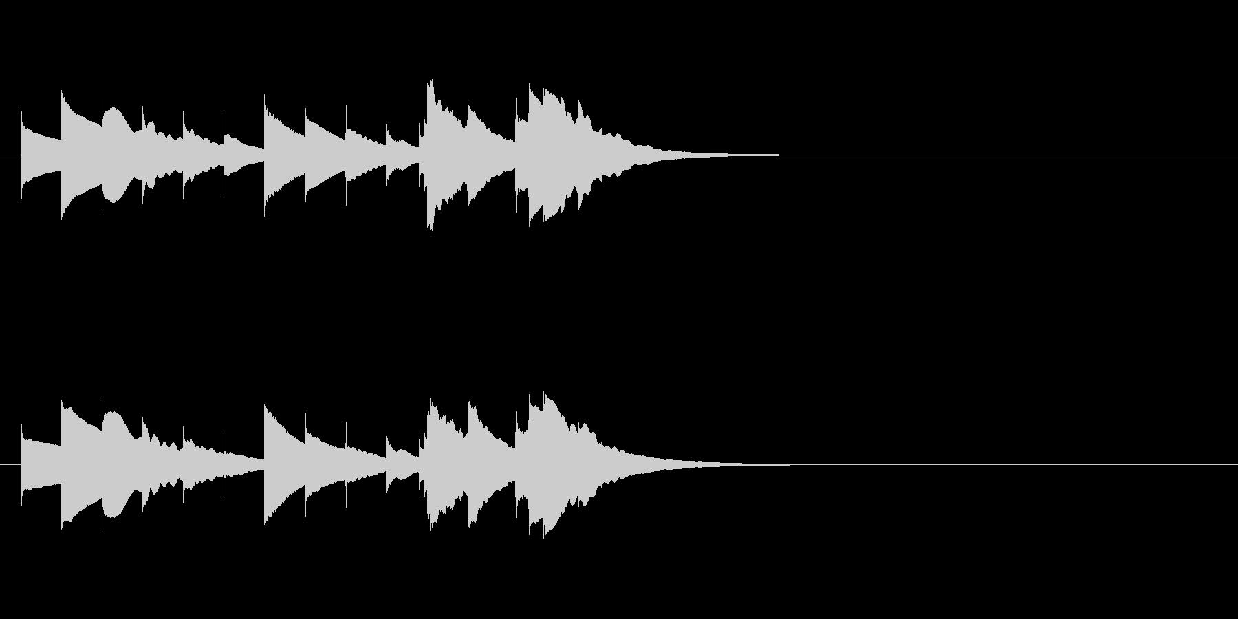 ほのぼのまったり短めオルゴールジングルの未再生の波形