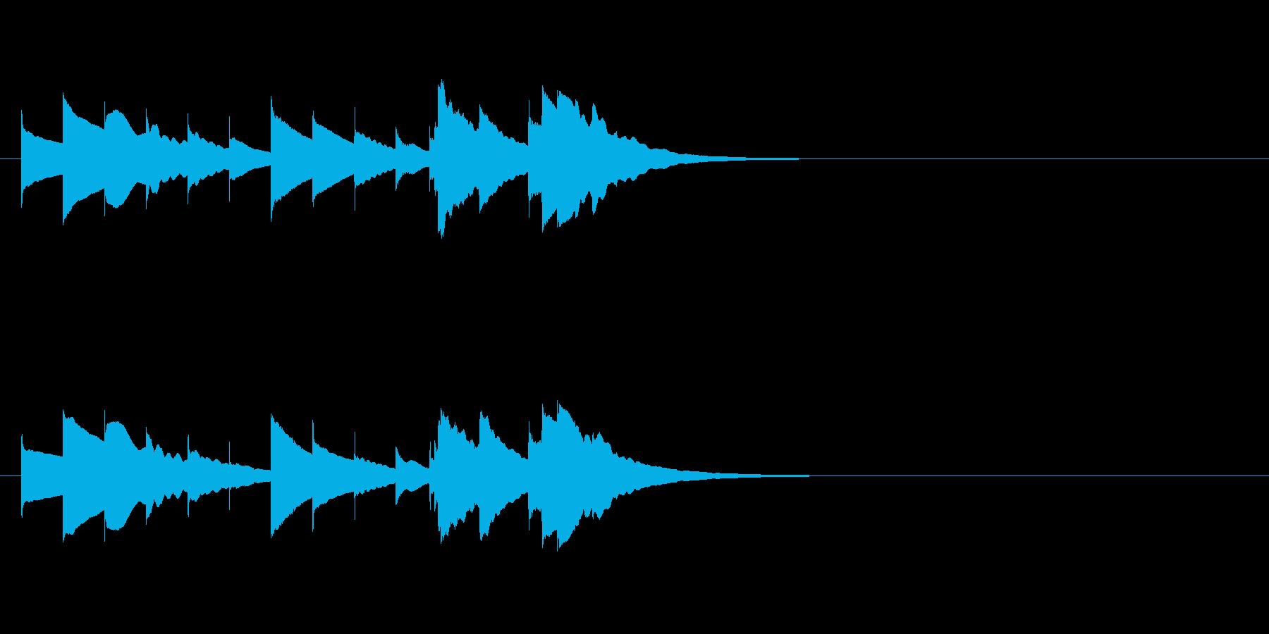 ほのぼのまったり短めオルゴールジングルの再生済みの波形