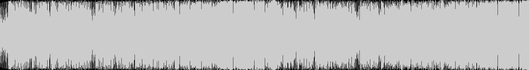チップチューン風のシンセポップ(ループ)の未再生の波形