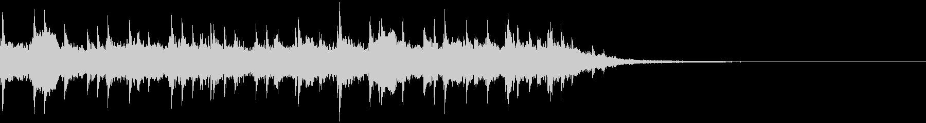 沖縄ソング 三線のソロ 12秒 癒しの未再生の波形