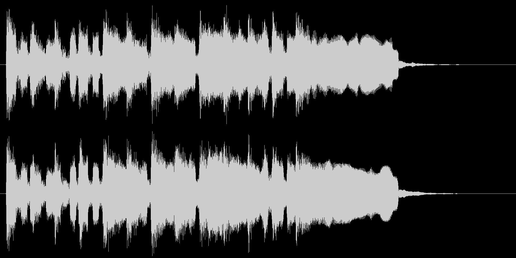 楽しいリコーダーのピクニック系ジングルの未再生の波形