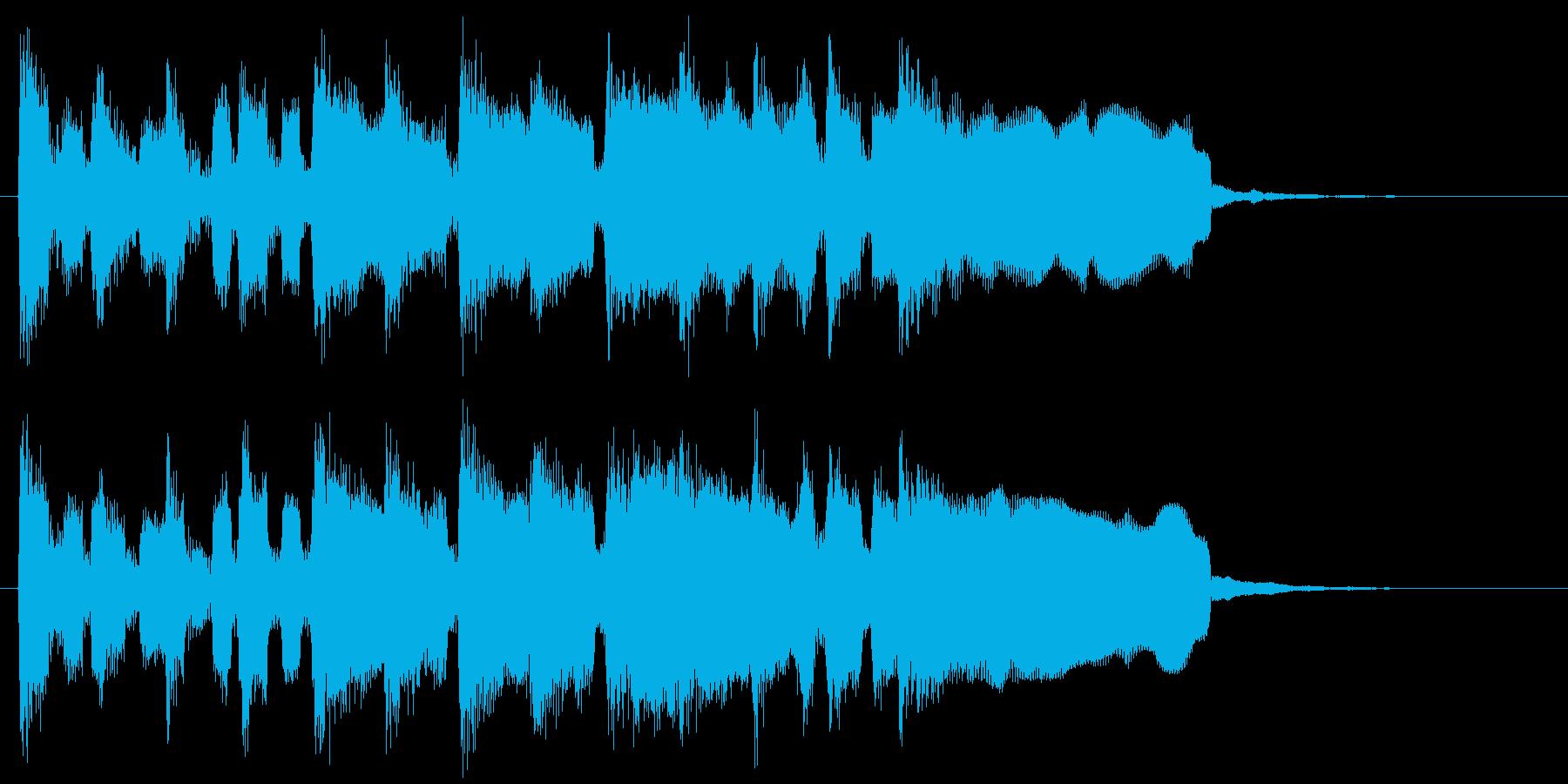 楽しいリコーダーのピクニック系ジングルの再生済みの波形
