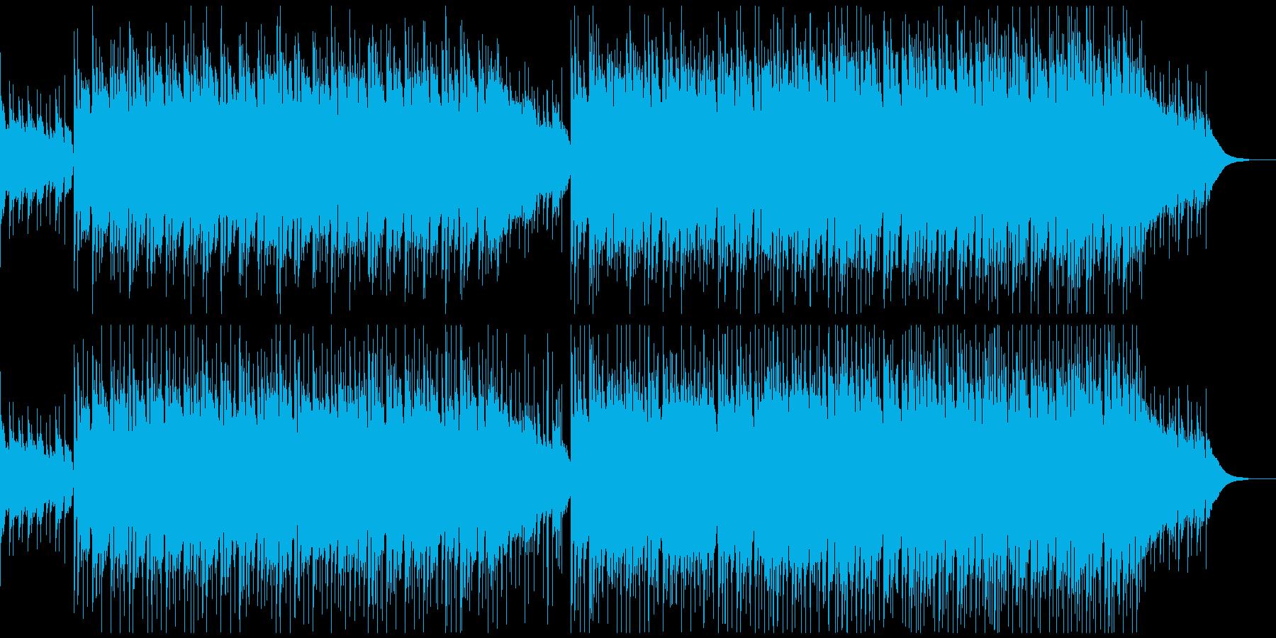 アコギ(生演奏)&バンドの爽やかBGM2の再生済みの波形