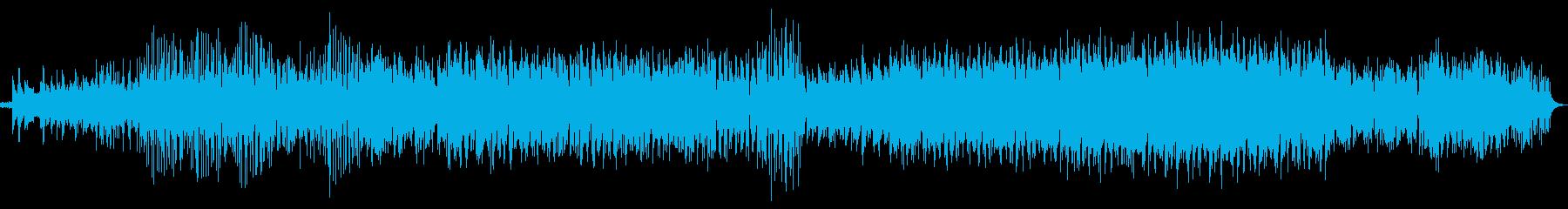 ポップで軽快なエレクトロニカミュージックの再生済みの波形