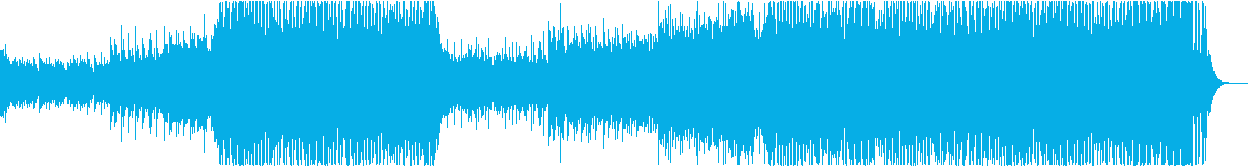 EDM that everyone can fly high in the sky's reproduced waveform