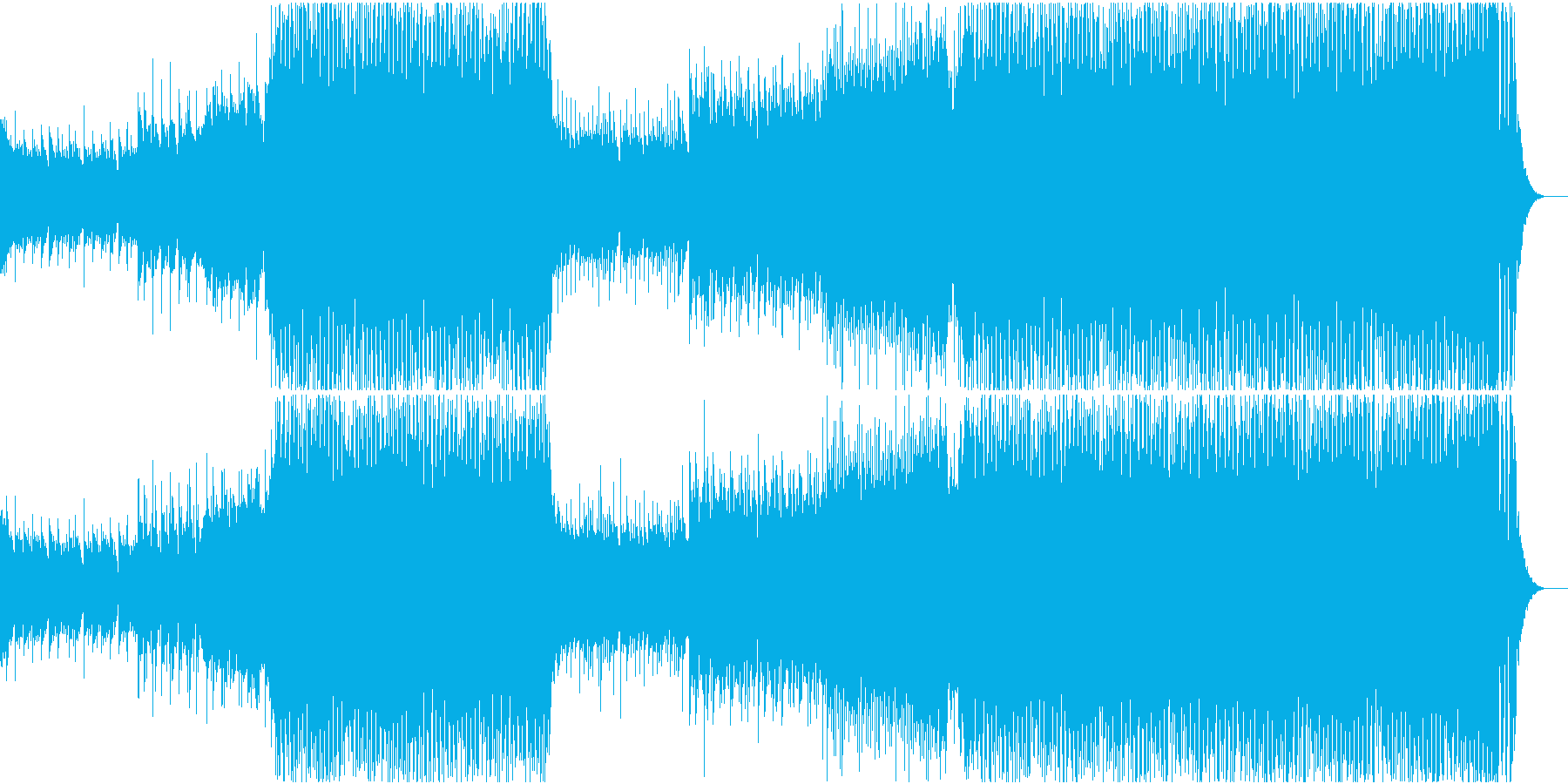みんなで空高く舞い上がれるようなEDMの再生済みの波形