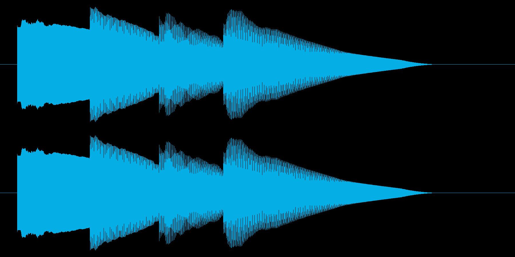 チャイム アナウンス06-2の再生済みの波形