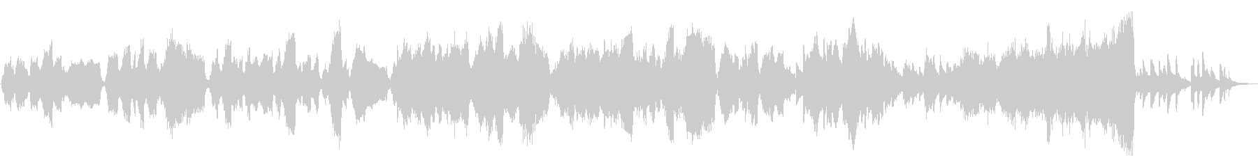 切ない映像に良く合う弦とピアノの作品の未再生の波形