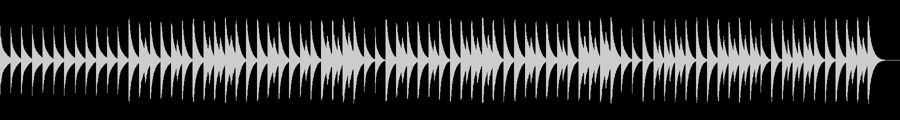 ピタゴラスイッチ風、三拍子の木琴BGMの未再生の波形
