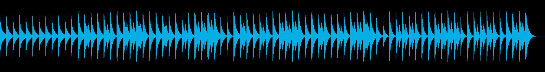 ピタゴラスイッチ風、三拍子の木琴BGMの再生済みの波形