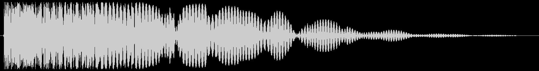 余韻がある低音の爆発音の未再生の波形