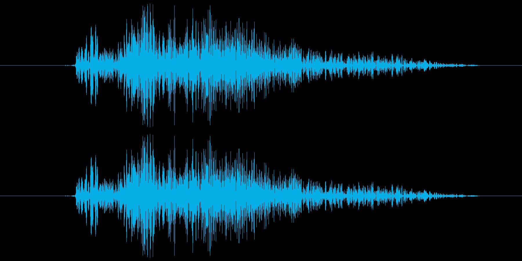 シューティング ショット音 5段階の1の再生済みの波形
