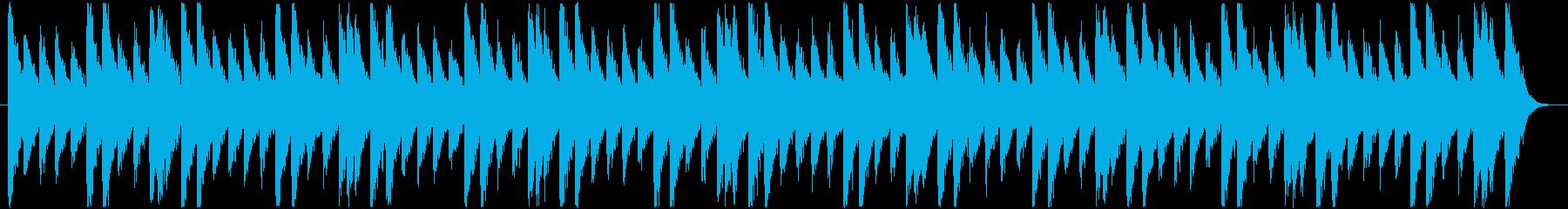怪しいBGM_チープな感じの再生済みの波形