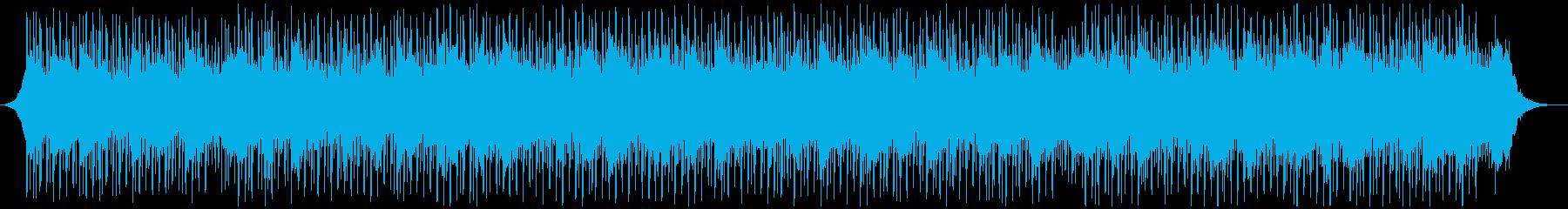 バックグラウンドインタビューの再生済みの波形