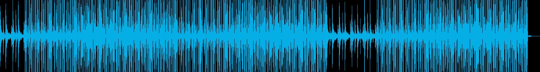 ドラムとピアノが印象的なヒップホップの再生済みの波形