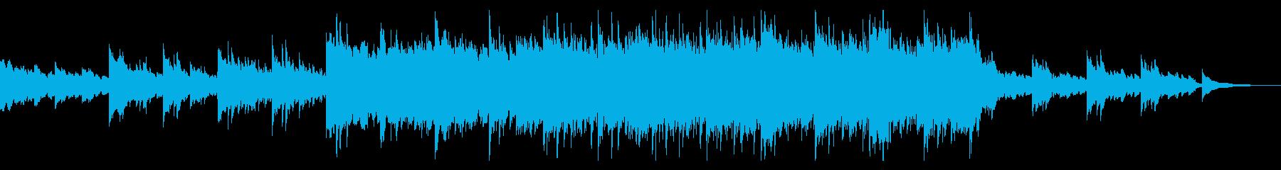 切なくゆったりしたテンポのピアノサウンドの再生済みの波形