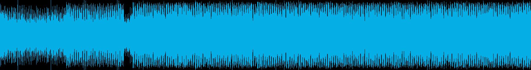 冒険が始まるようなシンセの旋律の曲の再生済みの波形