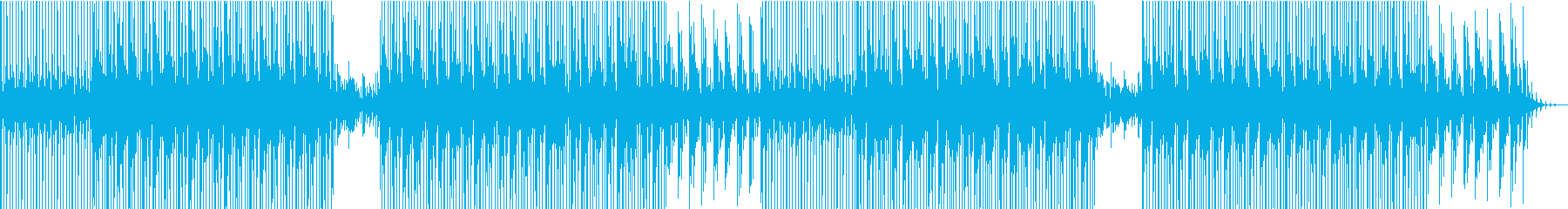 Vlog、実況、説明、商品紹介系BGM3の再生済みの波形