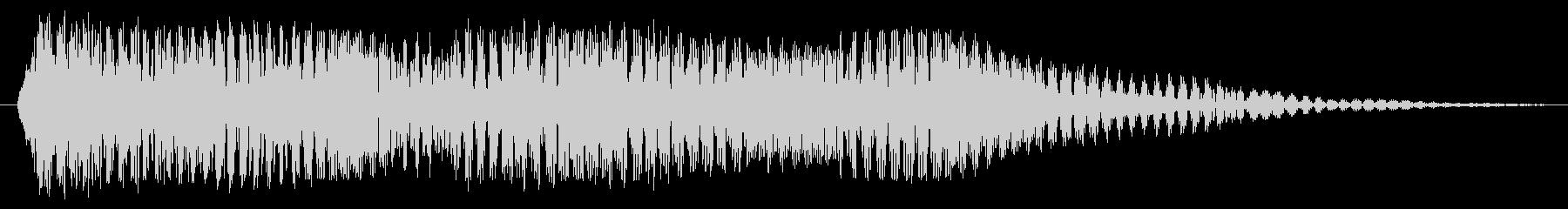 重い電子シンセの振動の影響の未再生の波形